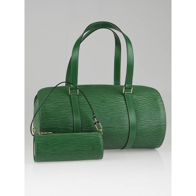 Louis Vuitton Borneo Green Epi Leather Soufflot Bag