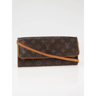 Louis Vuitton Monogram Canvas Pochette Twin GM Bag 1221