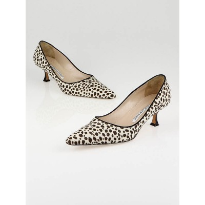Manolo Blahnik Animal Print Pony Hair Pumps Size 9/39.5