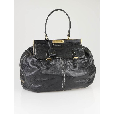 Miu Miu Nero Nappa Leather Frame Lux Bag