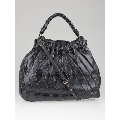Miu Miu Anthracite Leather Harlequin Patchwork Bag