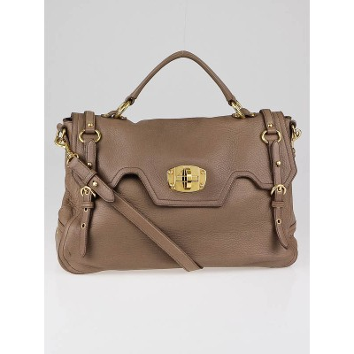 Miu Miu Juta Cervo Leather East/West Satchel Bag RN0633