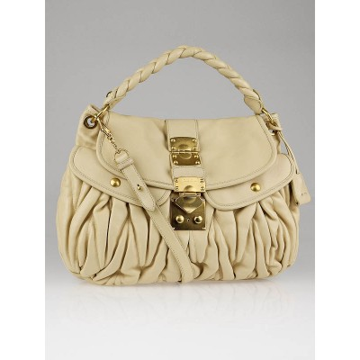 Miu Miu Soia Matelasse Leather Coffer Hobo Bag