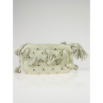 Marc Jacobs Ivory Quilted Leather Dancer Peasant Pouch Clutch Bag