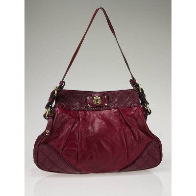 Marc Jacobs Raspberry Mix Quilted Leather Shoulder Bag