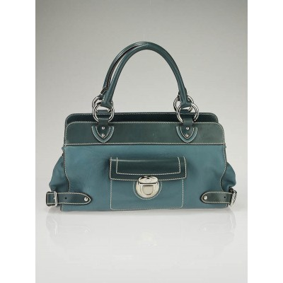 Marc Jacobs Denim Blue Leather Marina Satchel Bag