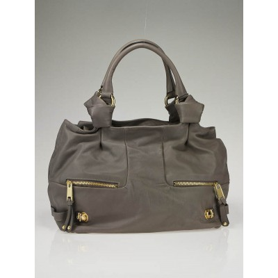Marc Jacobs Grey Leather Mercer Parker Satchel Bag