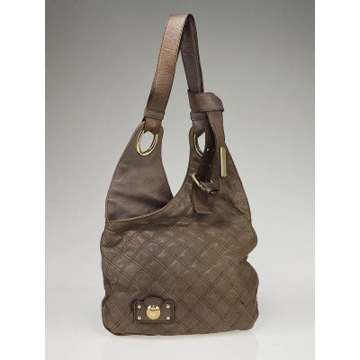 Marc Jacobs Oak Quilted Leather Oui Shoulder Bag