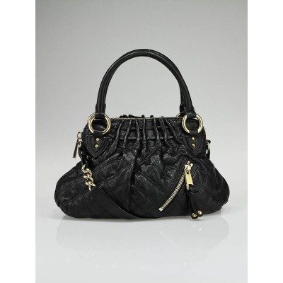Marc Jacobs Black Quilted Leather Small Cecilia Bag