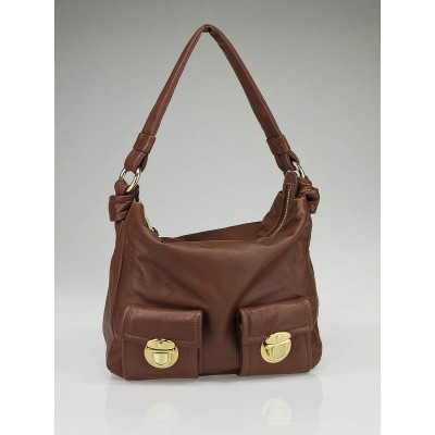 Marc Jacobs Brown Leather Mercer Shoulder Bag