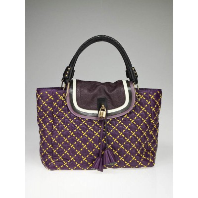 Marc Jacobs Purple Leather McKenzie Flap Tote Bag