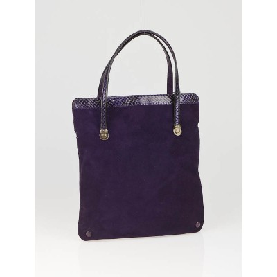 Marc Jacobs Violet Suede and Python Trim Evening Bag