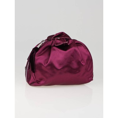 Marc Jacobs Purple Satin Tulip Clutch Bag