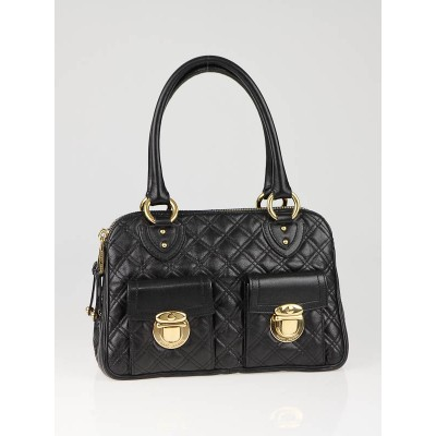 Marc Jacobs Black Quilted Leather Blake Bag