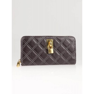 Marc Jacobs Grey Quilted Leather Zippy Wallet