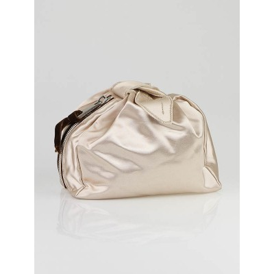 Marc Jacobs Champagne Satin Tulip Clutch Bag