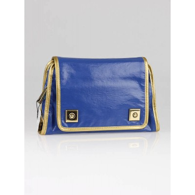 Marc Jacobs True Blue Coated Canvas Heather Clutch Bag