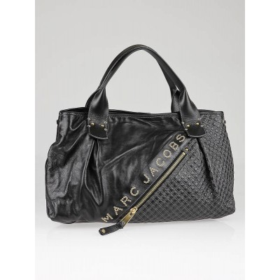 Marc Jacobs Black Quilted Leather Irina Large Tote Bag
