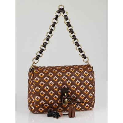 Marc Jacobs Brown Multicolor Quilted Leather Memphis Robert Jennifer Handbag