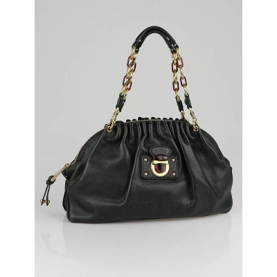 Marc Jacobs Dark Green Leather Capra Satchel Bag