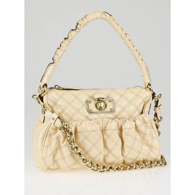 Marc Jacobs Nude Quilted Patent Leather Julianne Bag