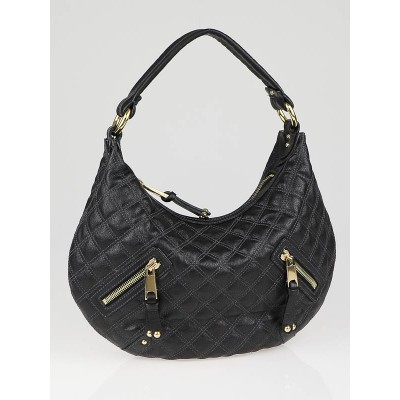 Marc Jacobs Black Quilted Calfskin Leather Banana Hobo Bag