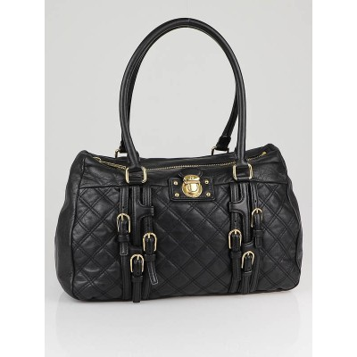 Marc Jacobs Black Quilted Leather Damen Bowler Bag