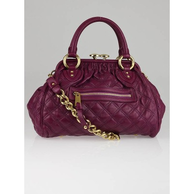 Marc Jacobs Purple Quilted Leather Mini Stam Bag