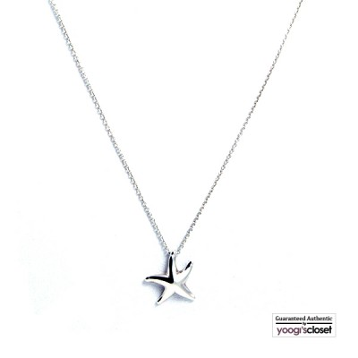 Tiffany & Co. Silver Elsa Peretti Starfish Pendant Necklace