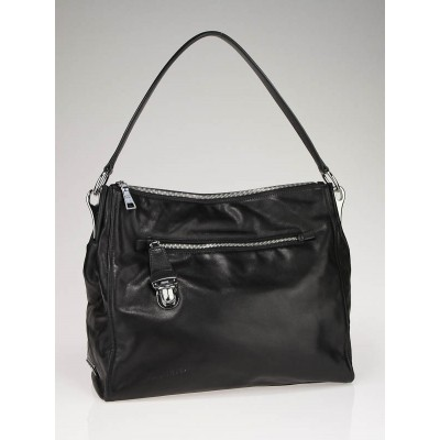 Prada Black Leather Zip Shoulder Bag BR4501