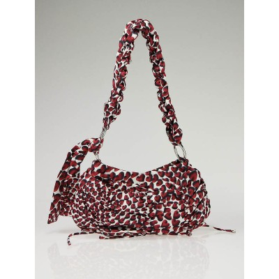 Prada Red Satin Hearts Evening Bag