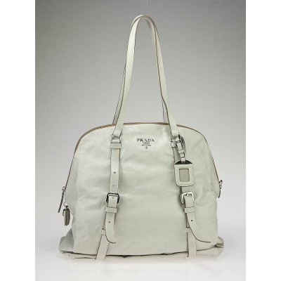 Prada Aluminum Leather New Look Tote Bag BL0499