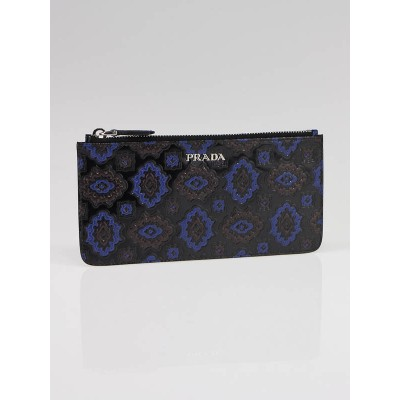 Prada Multicolore Embossed Leather Flat Pouch