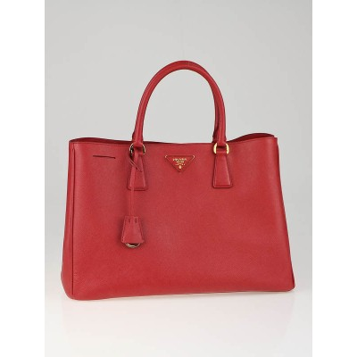 Prada Fuoco Saffiano Luxe Leather Tote Bag BN1844