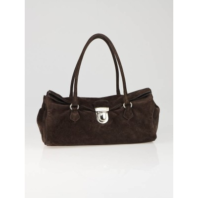 Prada Moro Suede Camoscio Easy Shoulder Bag BR1254
