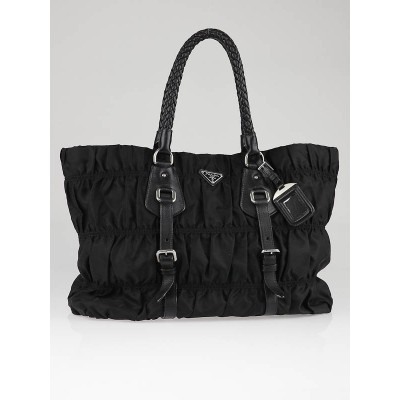Prada Black Tessuto Nylon Gauffre Large Tote Bag BR2719