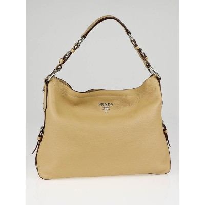 Prada Naturale Deerskin Leather Hobo Bag BR3665