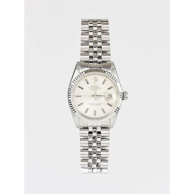 Rolex Stainless Steel and 18k White Gold 36mm Unisex 16014 Watch