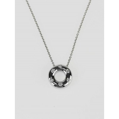 Tiffany & Co. Platinum Etoile and Diamond Circle Pendant