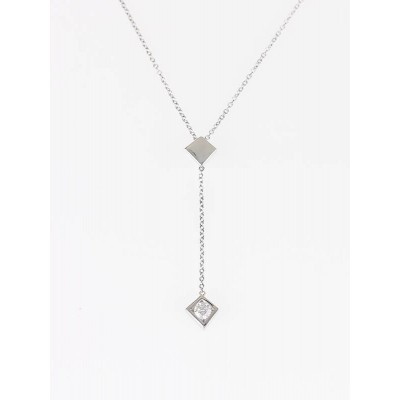 Tiffany & Co. 18k White Gold Frank Gehry Torque Diamond Pendant