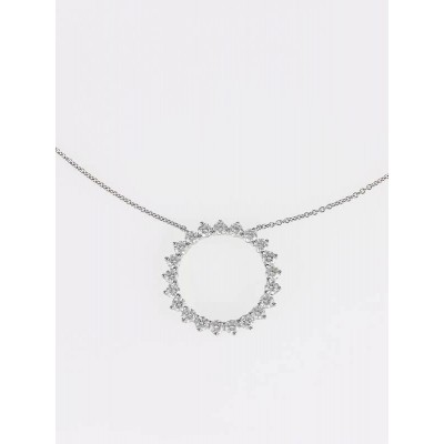 Tiffany & Co. Platinum and Diamond Open Circle Medium Pendant