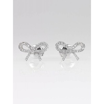 Tiffany & Co. Platinum and Diamond Bow Earrings