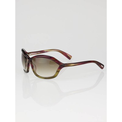 Tom Ford Red Gradient Frame Brown Lens Patek Sunglasses - TF122