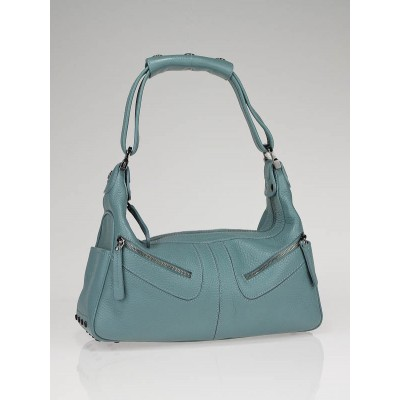 Tod's Light Blue Leather Micky Bag