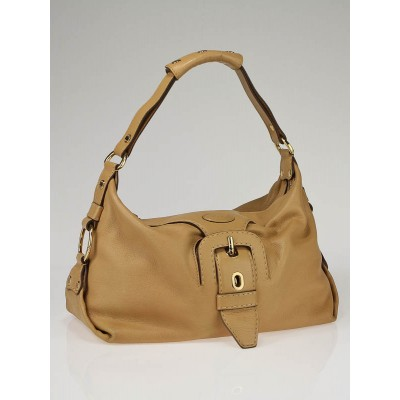 Tod's Beige Leather Claire Hobo Bag