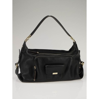Tod's Black Leather Restyling Hobo Bag