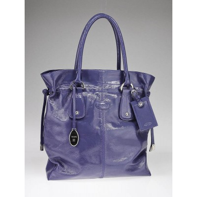 Tod's Purple Patent Leather New Restyling D-Bag Media Bag
