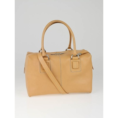 Tod's Natural Leather Dado Box Satchel Bag