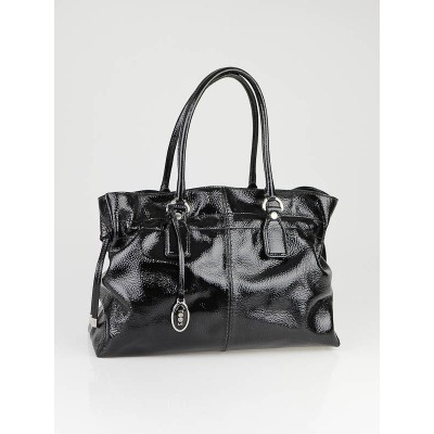 Tod's Black Patent Leather New Restyling D-Bag Media Bag