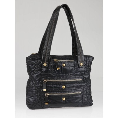 Tod's Black Nylon Pashmy Tote Bag